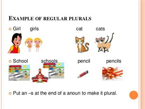 learning regular  irregular nouns