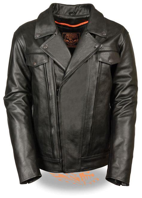 vented motorcycle jacket mens black leather vented motorcycle jacket utility pockets