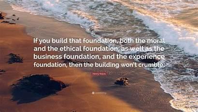 Kravis Henry Moral Foundation Both Build Business