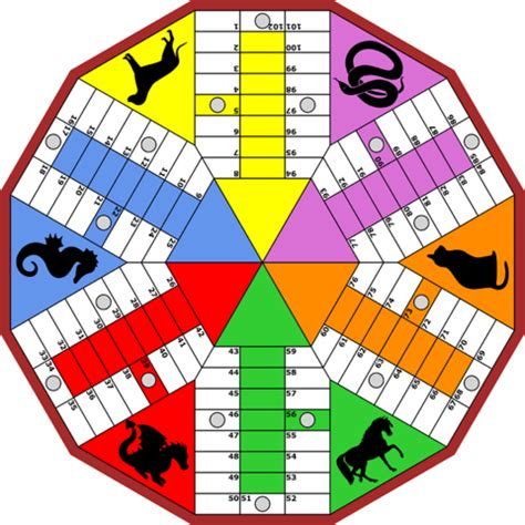 parchis   players board game  printable