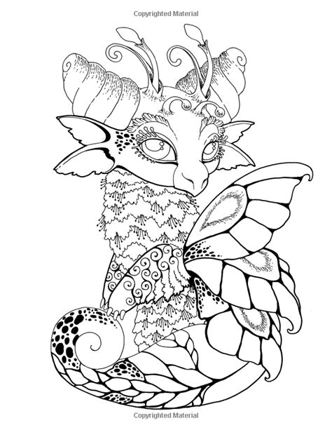 AmazonSmile: Nice Little Dragons: Adult Coloring Book
