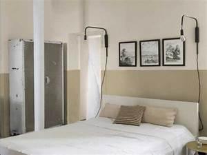 Tete De Lit En Lin : peinture chambre avec murs lin et tete de lit beige ~ Teatrodelosmanantiales.com Idées de Décoration