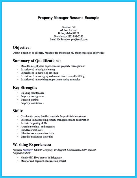 writing  great assistant property manager resume