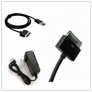 Usb Cable   Ac Charger For Asus Eee Transformer Tablet Tf101 Tf201 Tf300 Tf300t