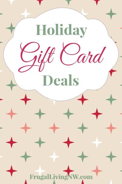 holiday gift card deals frugal living nw