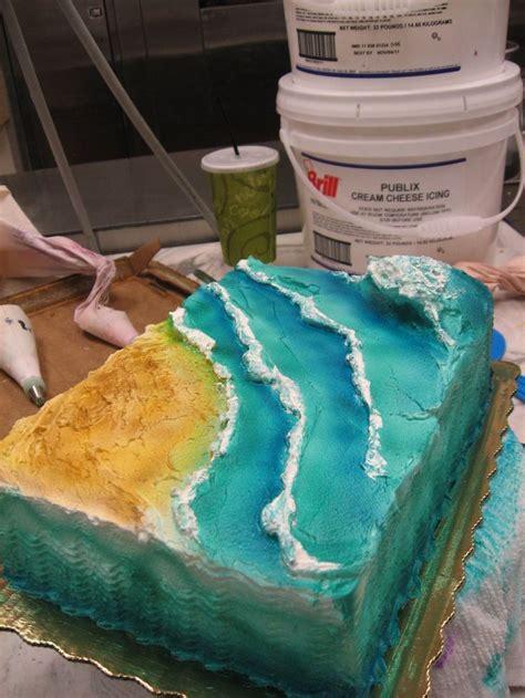 ideas  ocean cakes  pinterest beach cakes
