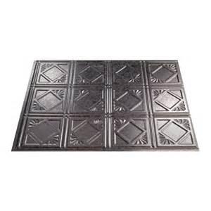 thermoplastic panels kitchen backsplash shop fasade 18 5 in x 24 5 in galvanized steel thermoplastic multipurpose backsplash at lowes