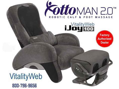 ijoy 100 chair ijoy 100 human touch chair recliner ottoman 2 0 ebay