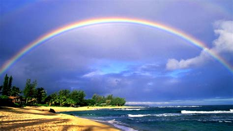 Beautiful Nature Wallpaper Big Size #14 with Rainbow on