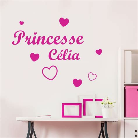 stickers chambre parentale great stickers fille prnom et princesse stickers fille