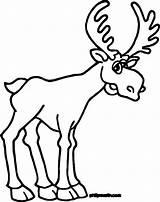 Elk Coloring Moose Line Drawing Printable Iditarod Clipartmag Getcolorings Writing sketch template