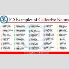 100 Examples Of Collective Nouns  English Study Here