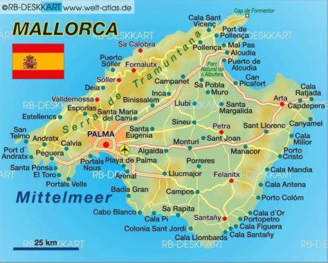 map  mallorca island  spain welt atlasde