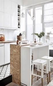 Küchentisch Kleine Küche : ber 50 elegante designideen mit einem kleinen k chentisch innenarchitektur k che k che tisch ~ Watch28wear.com Haus und Dekorationen