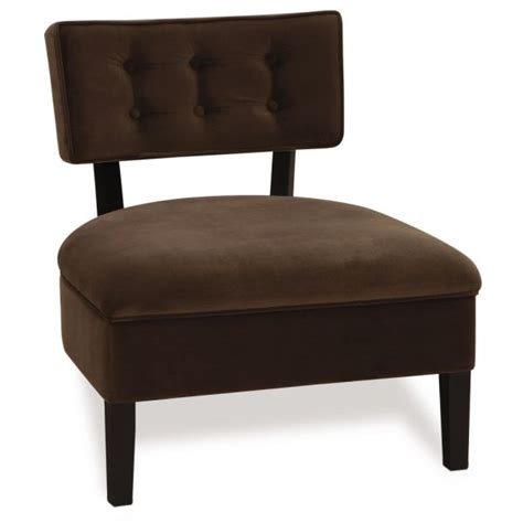button back chair in chocolate brown and green