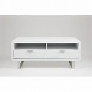 Meuble Tv Blanc Laqué : petit meuble tv les bons plans de micromonde ~ Teatrodelosmanantiales.com Idées de Décoration