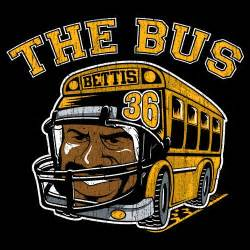 Pittsburgh Steelers Decor by The Bus Jerome Bettis Retro Football T Shirt