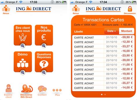 plafond virement ing direct billet sponsoris 233 ing direct une application iphone 233 tonnante pour une banque