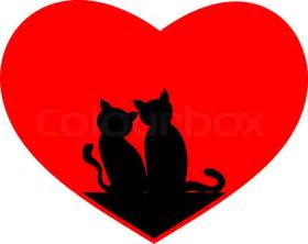 Black Cat with Hearts