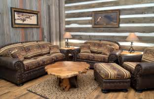 Leather Conversation Sofa by Fabric Upholstery Country Home Furniture Ranch Style