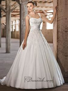 straps sweetheart lace appliques criss cross bodice a line With a line princess wedding dress