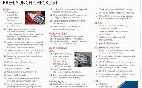 pre launch check list sail magazine