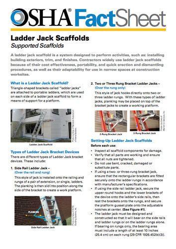 understanding ladder jack scaffolding
