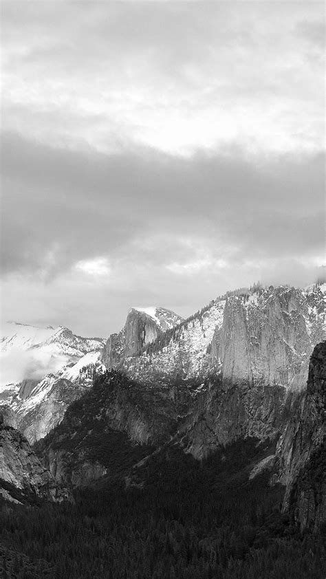 grayscale mountains forest landscape iphone 6 plus