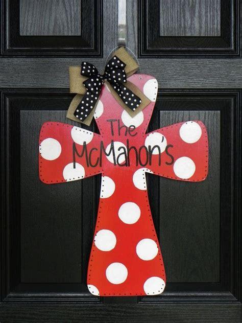 wooden cross door hanger  tylercatherines  etsy