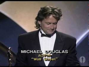 Michael Douglas Wins Best Actor: 1988 Oscars - YouTube