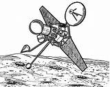 Satellite Space Travel Coloring Pages Observation Place Template sketch template