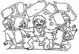 Coloring Samson Pagan Pages Temple Fork Destroy Printable Hair Getcolorings Getdrawings sketch template