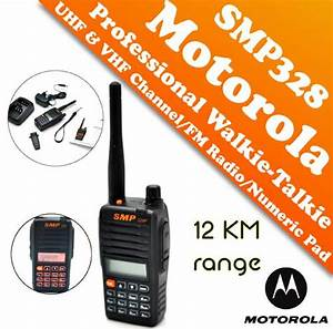Motorola Professional Walkie Talkie Smp 328p 12km License