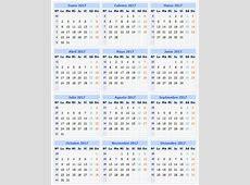 Calendario 2017 Página 3 de 5 Caledarios 2017 para