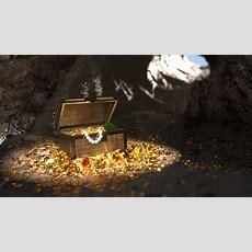 Pirates Treasure In A Cave