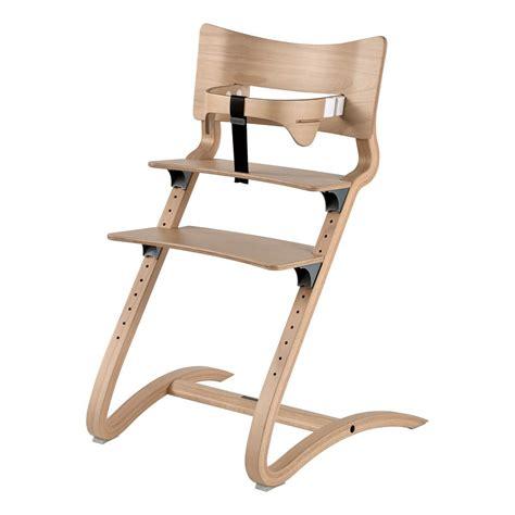 chaise haute avec arceau naturel leander design b 233 b 233