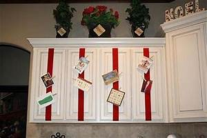 run a piece of ribbon down the front of your cabinet doors