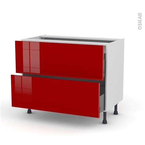 cuisine rully meuble de cuisine casserolier stecia 2 tiroirs l100