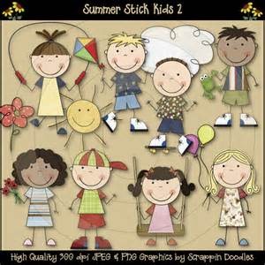 Kids Summer Fun Clip Art