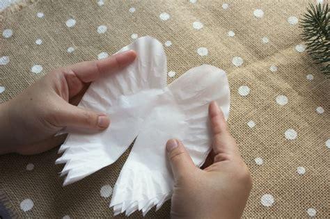 hometalk sparkling angel wings   coffee filters