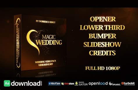 magic wedding free after effects project videohive