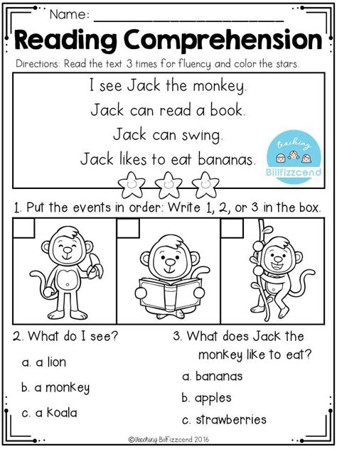 free sequencing reading comprehension first grade reading comprehension first grade reading