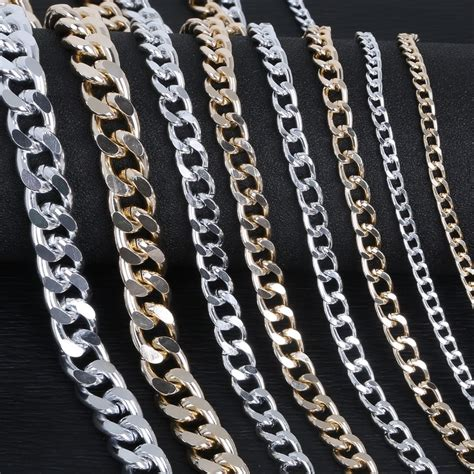 meterlot silver goldaluminum plated necklace chains brass bulk  diy jewelry making