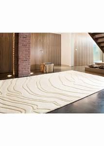 Grand Tapis Blanc : tapis grand tapis salon decoratif create 1 blanc de la collection ligne pure ~ Teatrodelosmanantiales.com Idées de Décoration