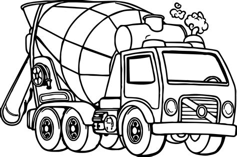 Cement Truck Drawing At Getdrawings.com