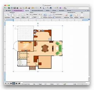 Add a floor plan to a ms word document conceptdraw helpdesk for How to create a floor plan in word