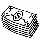 Money Coloring Pages Dollar Bills sketch template