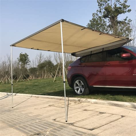 portable shade canopy outsunny car awning portable folding retractable rooftop