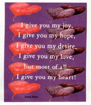 Ill Give You My Heart Quotes