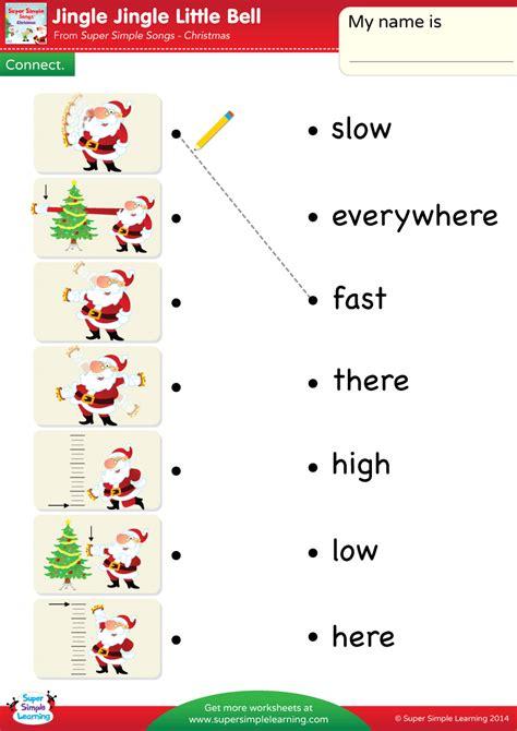 jingle jingle  bell worksheet connect super simple